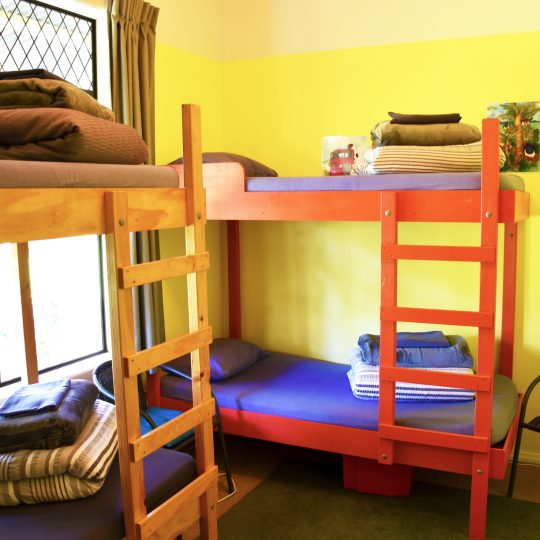 Paua room dorm room at Takaka's Kiwiana Backpackers